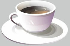 Simple A Cup Of Coffee Vector Illustration