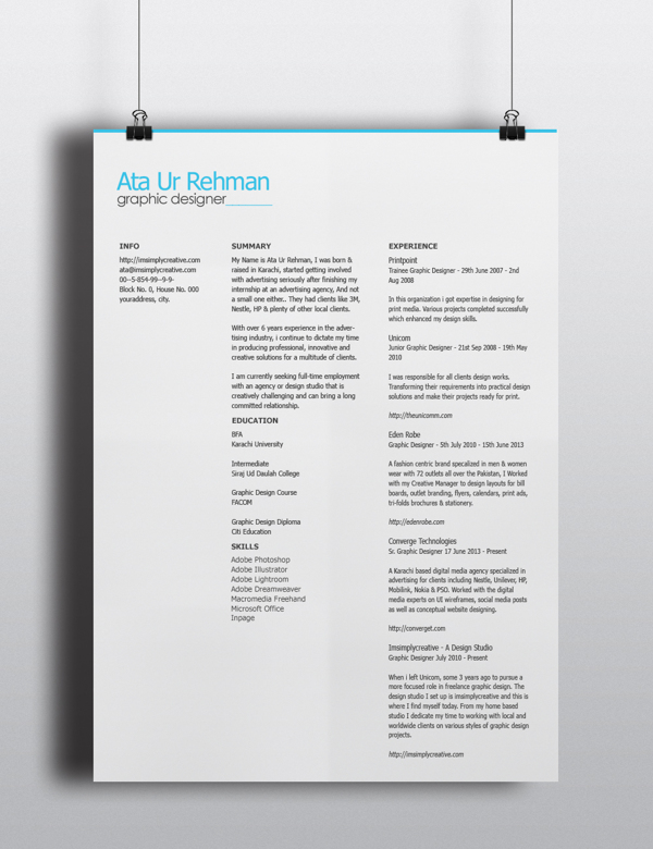 free minimalistic resume template psd titanui. Black Bedroom Furniture Sets. Home Design Ideas