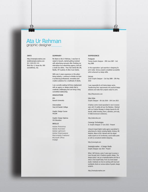 free minimalistic resume template psd titanui. Black Bedroom Furniture Sets. Home Design Ideas