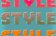 5 Colored Text Layer Styles PSD