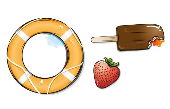 Summer Vacation Vector Elements