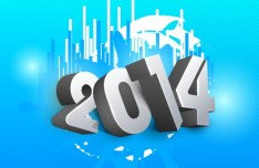 Creative New Year 2014 Design Vector 01
