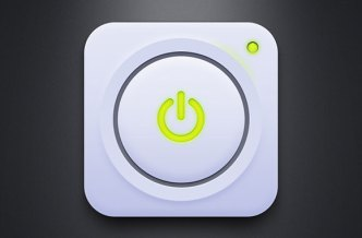 Green Power On Off Button PSD
