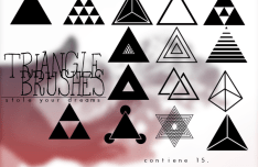 Set Of Triangle Photoshop Brushes