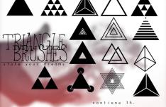 Set Of Triangle Photoshop Brushes
