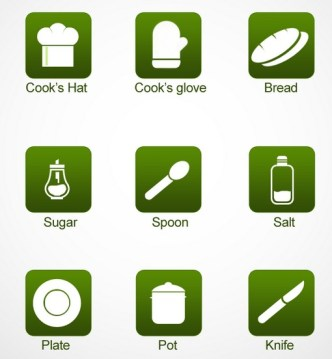9 Cooking Icons PNG