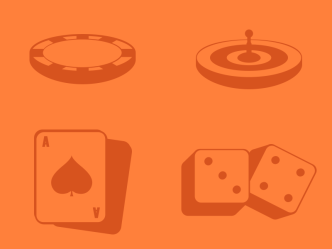 Casino Icon Set PSD and Vector