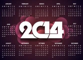 Creative 2014 Calendar Vector