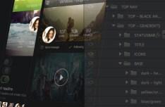 Kickstarter Dark UI Kit PSD
