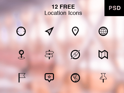 Location Icons PSD