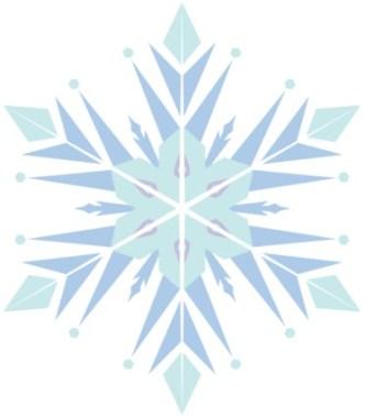 Clean Snowflake Vector SVG