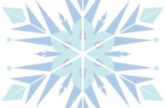 Clean Snowflake Vector SVG