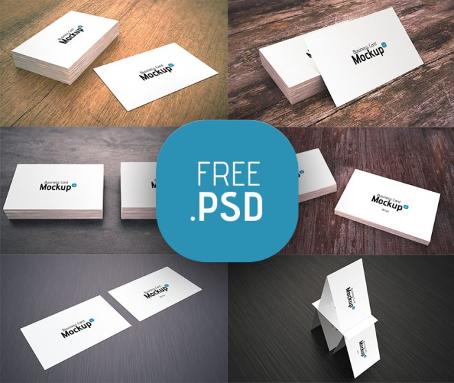 Clean and Simple White Business Card Mockup PSD