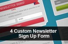 4 Custom Newsletter Signup Form PSD Templates