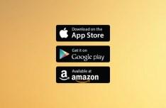 App Store Google Play Amazon Badges Vector