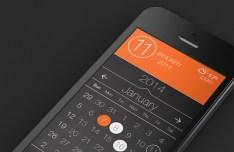 iOS 7 Style Calendar App UI PSD