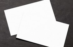 Simple White Blank Business Card Mockup PSD