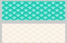 4 Classic Wave Patterns Vector
