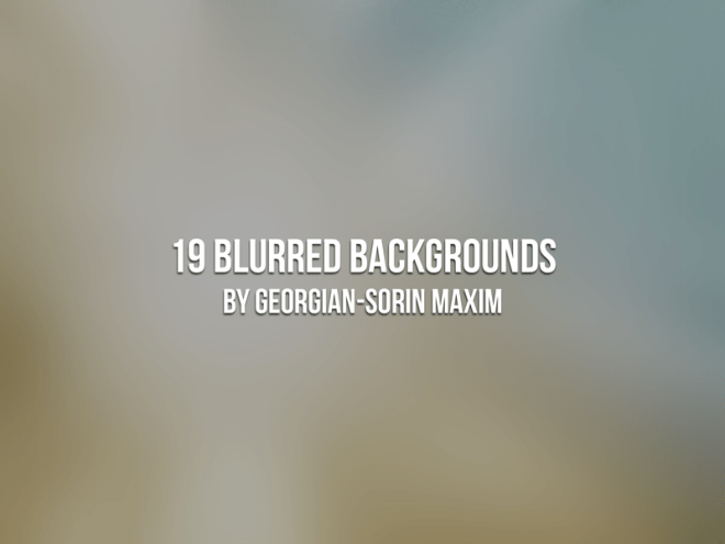19 Blurred Backgrounds PSD