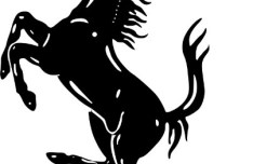 Ferrari Logo Silhouette Vector