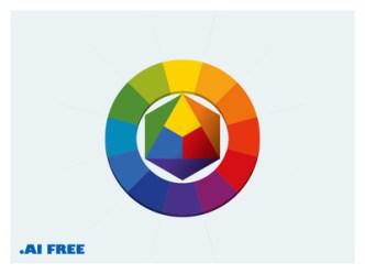 Abstract Color Wheel Vector