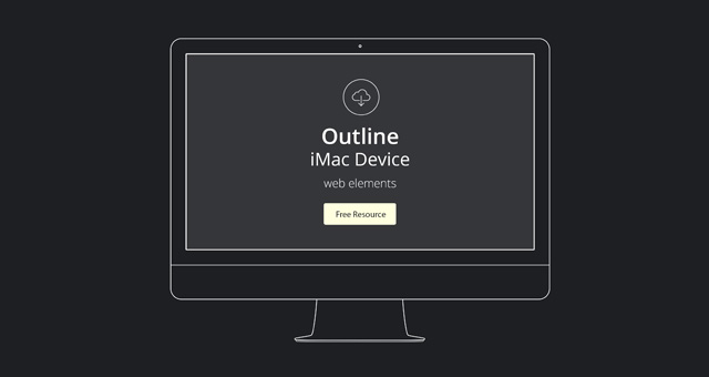 Apple Outline Device Vector PSD