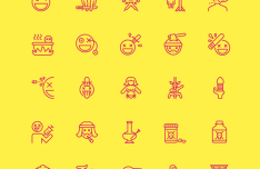 Nasty Icons 50 Vector Icons