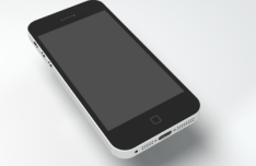Simplified iphone 5s Template PSD