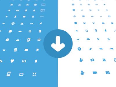 100+ UI Icons PSD