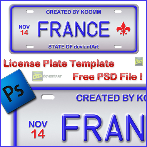 free license plate psd template titanui