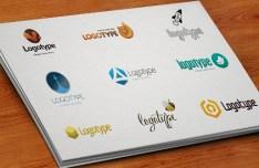 Set Of PSD Logotype Templates