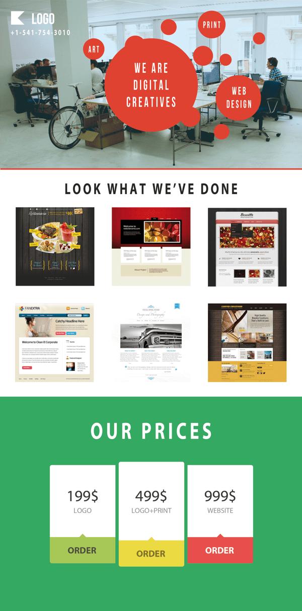 free responsive e commerce web page template psd titanui. Black Bedroom Furniture Sets. Home Design Ideas