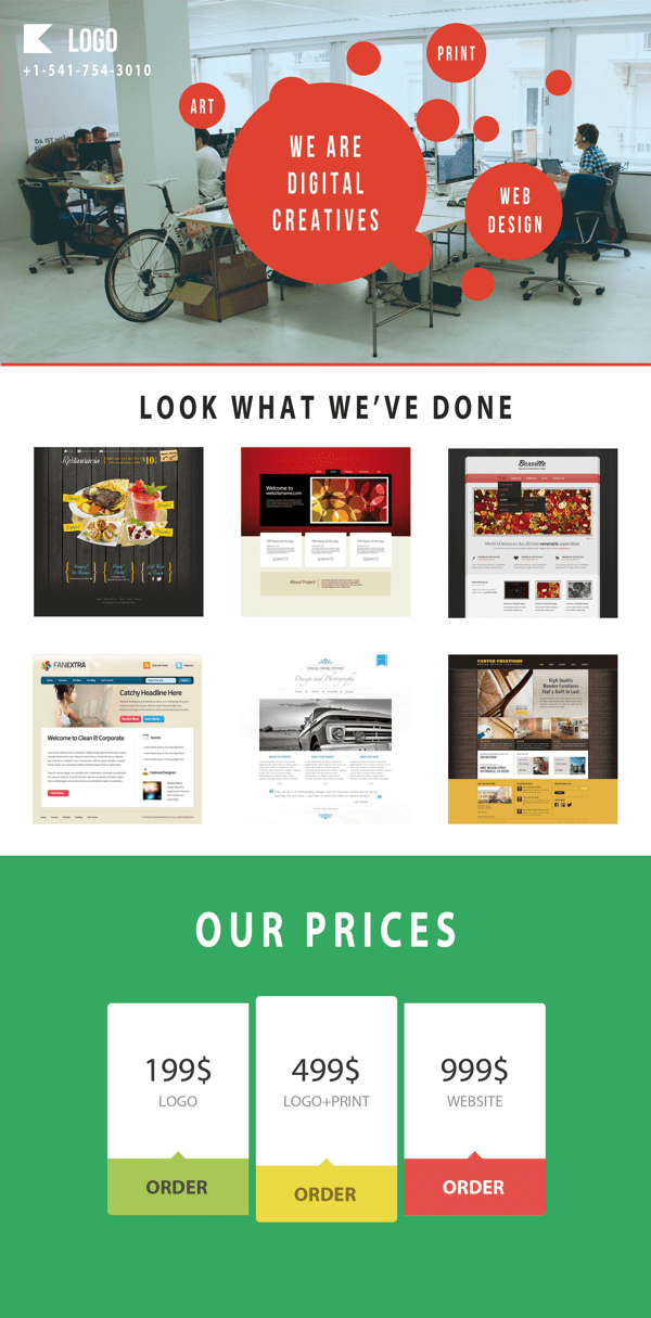 Responsive E-Commerce Web Page Template PSD