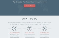 Ungart - Flat One Page Website PSD Template