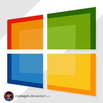 Flat Windows Logo PSD