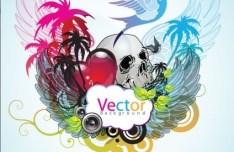 Music Art Grunge Background Vector 02