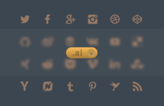 24 Vector Brown Social Icons