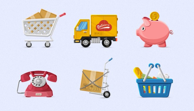 Charming E-commerce Icons