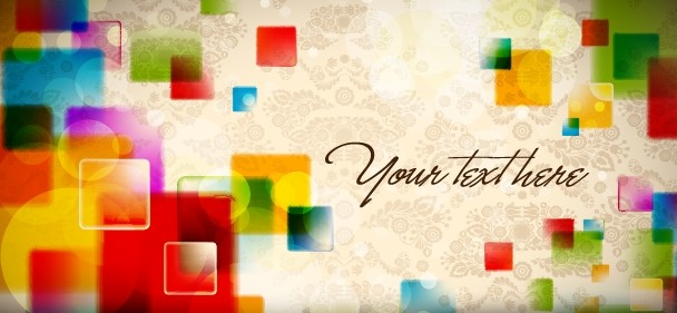 Colored Abstract Banner Design Vector 01