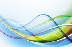Colorful Abstract Curved Lines Background Vector 03