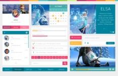 Disney Frozen Movie Web UI Kit PSD