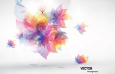 Shiny Rainbow Abstract Flower Background Vector