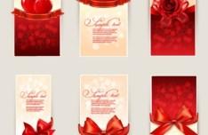 6 Valentine's Day Card Design Templates Vector