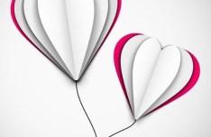 Creative Paper Love Heart Balloons Vector