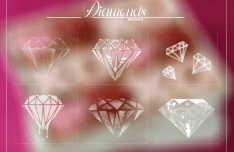 Set Of Diamond Photoshop Brushes