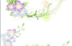 Set of Green Flower & Vine Frames Vector 02