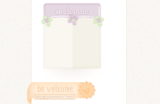 Cute Flower Web Ribbons PSD
