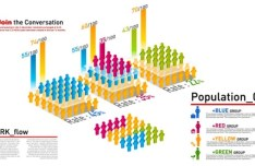 Minimal World Population Infographic Vector