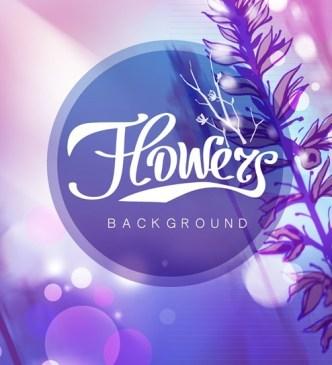 Fantastic Shiny Flower Background Vector 01