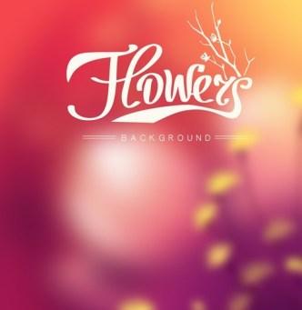 Fantastic Shiny Flower Background Vector 04